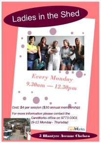 Ladies in the Shed - Click for Flyer